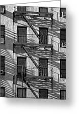 Light And Shadow On First Avenue Greeting Card
