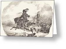 Light Artillery Officer Of The  Imperial Guard (officier D'artillerie Legerie De La  Garde Imperiale) Greeting Card