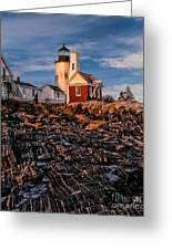 Light At Pemaquid Point Greeting Card