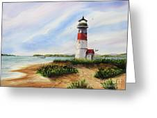 Light At The Inlet Greeting Card