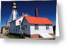 Light At Whitefish Point Greeting Card