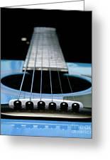 Light Blue Guitar 13 Greeting Card