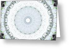 Light Blue Mandala- Art By Linda Woods Greeting Card