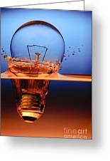 Light Bulb And Splash Water Greeting Card by Setsiri Silapasuwanchai