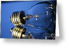 Light Bulb - Blue Greeting Card