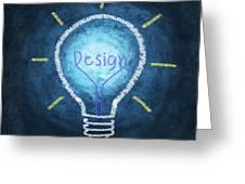 Light Bulb Design Greeting Card