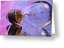Light Bulb - Multi Color Greeting Card