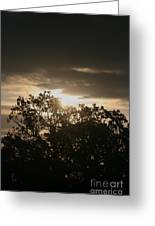 Light Chasing Away The Darkness Greeting Card