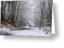 Light Dusting Of Snow Greeting Card