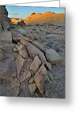 Light Fading On Valley Of Fire Greeting Card