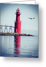 Red Lighthouse Greeting Card