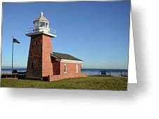 Light House At Santa Cruz Greeting Card