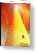 Light House At Sunset, Cape May, Nj Greeting Card