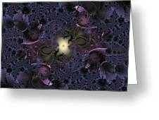 Light In The Fractal Night Greeting Card