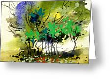 Light In Trees Greeting Card