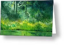 Light N Greens Greeting Card
