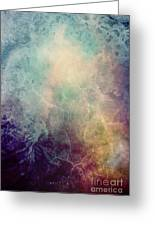 Light Of Life Abstract Painting Greeting Card
