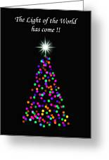Light Of The World Christmas Card Greeting Card