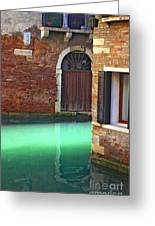 Light On Canal In Venice Greeting Card