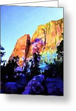 Light On Cliffs Greeting Card