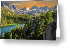 Light On Mack Lake Greeting Card