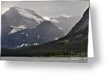 Light On Mountain Slopes Greeting Card