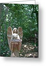 Light On The Angel In My Backyard Greeting Card