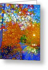Light On The Autumn Path Greeting Card