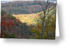 Light On The Valley Greeting Card