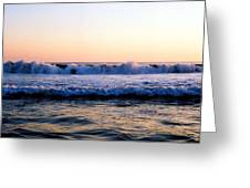 Light On The Wave Tops 4 Greeting Card