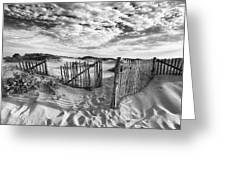 Light Over The Dunes Greeting Card