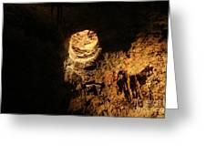 Light Peeks Through - Cave Greeting Card
