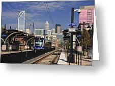 Light Rail In Charlotte Greeting Card