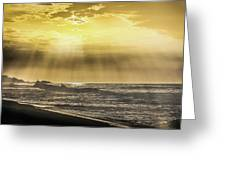 Light Rays On The Sunrise Greeting Card