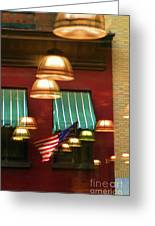 Light Reflection Nyc Canopy  Greeting Card