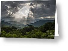 Light Show Before The Storm. Greeting Card by Itai Minovitz