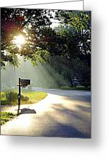 Light The Way Home Greeting Card