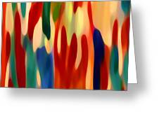 Light Through Flowers Greeting Card by Amy Vangsgard