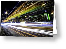 Light Trails 1 Greeting Card