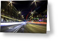 Light Trails 2 Greeting Card
