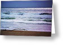 Light Waves To Sand Greeting Card