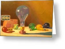 Lightbulbs Homage To Walter Murch Greeting Card