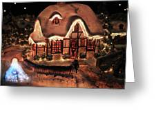 Lighted Christmas House  Greeting Card