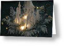 Lighted Fountain Greeting Card