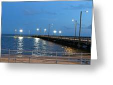 Lighted Pier Greeting Card
