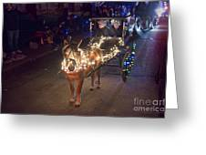 Lighted Pony Greeting Card