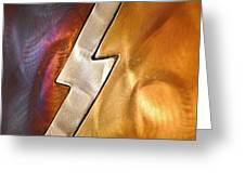 Lightening Bolt Abstract Greeting Card