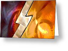 Lightening Bolt Abstract Posterized Greeting Card