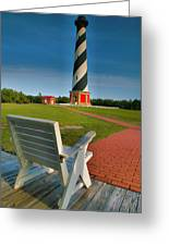 Lighthouse And Chair Greeting Card