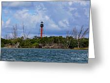 Lighthouse At Anclote Key Greeting Card